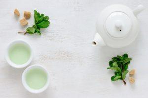 tazze di tè verde